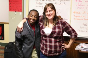 LFLA sophomore, Adom, and Ms. Sinclair